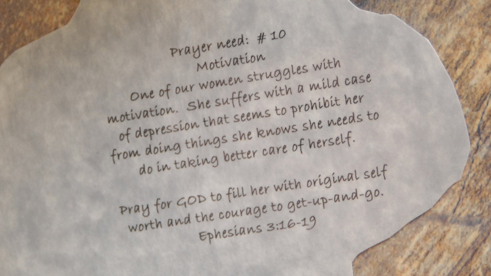 Pray for God to fill her with original self worth and the courage to get-up-and-go
